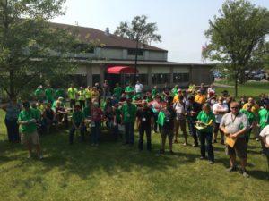 Ojibwe Forests Rally volunteers